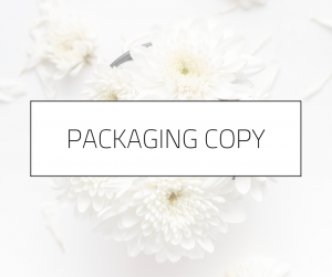 Packaging Copy | Melissa Mott