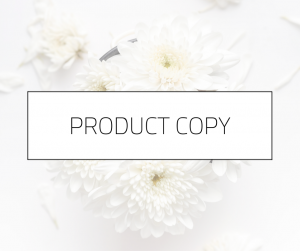 Product Copy | Melissa Mott